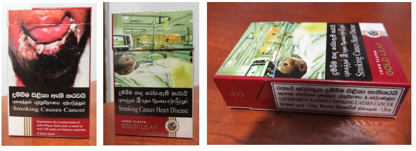 Image 4: Images of John Player brand cigarette packs sold in Sri Lanka covering 80% of the pictorial health warnings